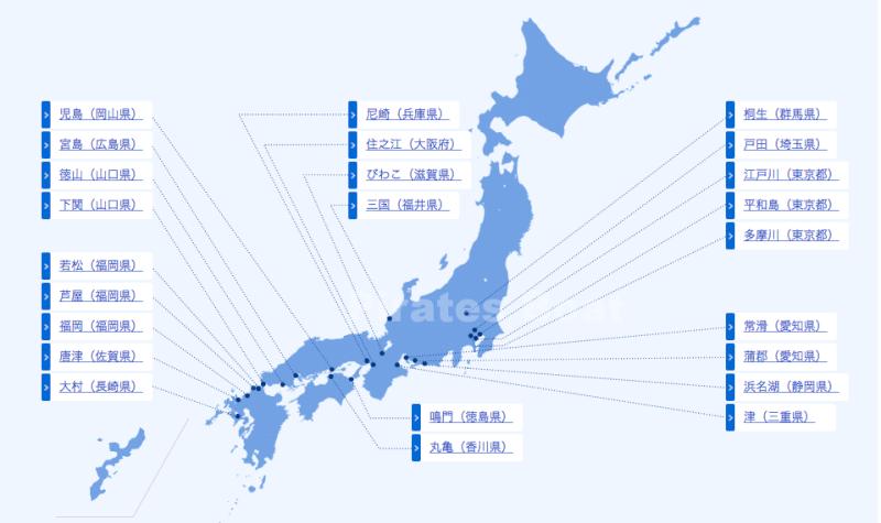 全国の競艇場マップ