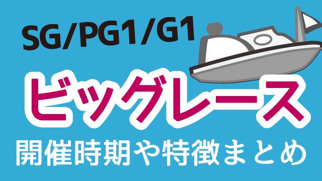 競艇SG・PG・G1